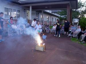 2017年8月3日 島尾の家 花火大会
